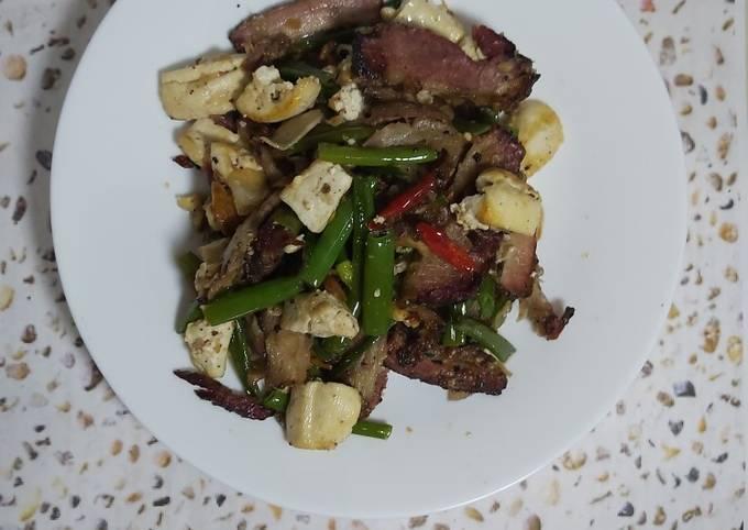 Resep: Tumis daging tahu bunga bawang
