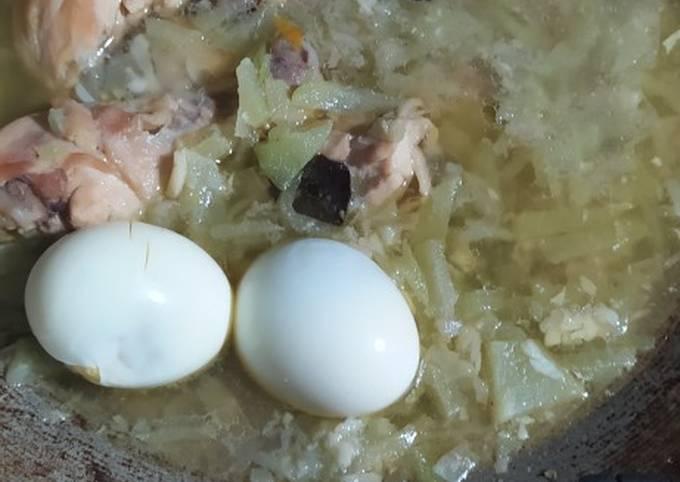 Resep Opor ayam labu tanpa santan