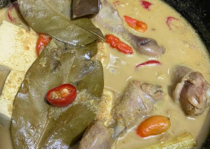 Resep Opor Tahu dan Ayam byTia