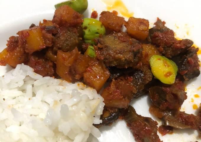 Resep Sambal goreng kentang-ampela ati-pete