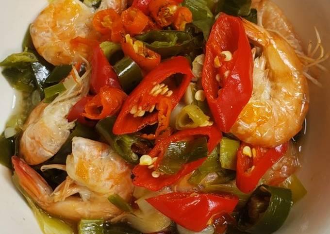 Resep Tim udang bawang putih