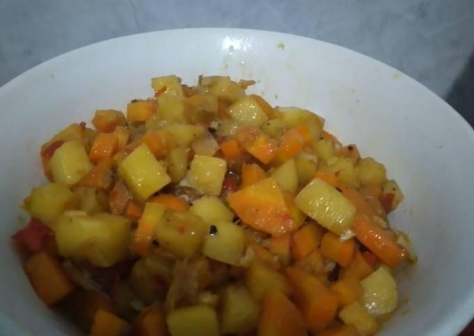 Resep Oseng kentang wortel