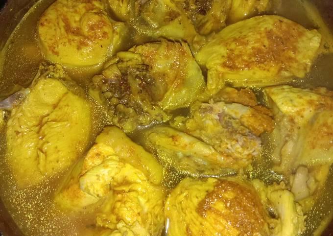 Resep: Ayam ungkep bumbu racik