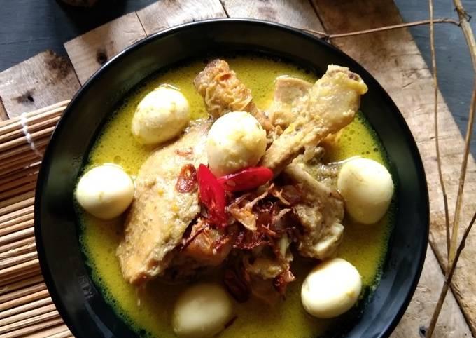 Resep Opor ayam kampung telur puyuh