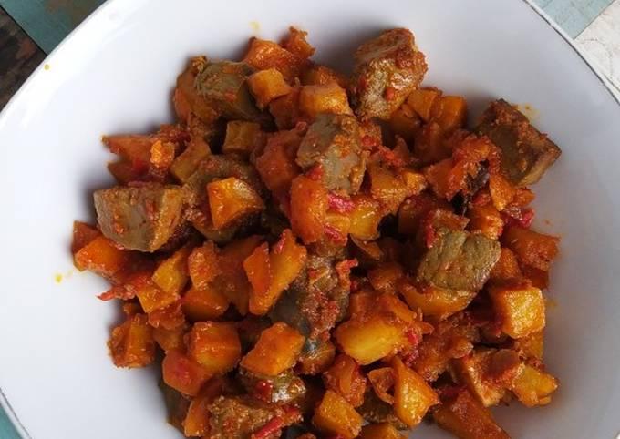 Resep: Sambel goreng kentang ati sapi