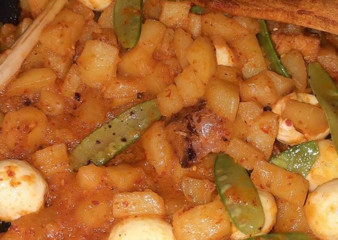 Resep Sambal goreng kentang telor puyuh