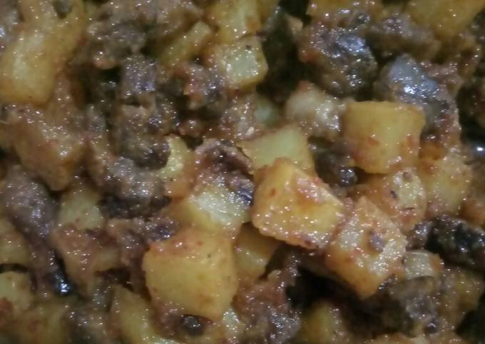 Resep Sambal goreng kentang ati ampela dengan petai