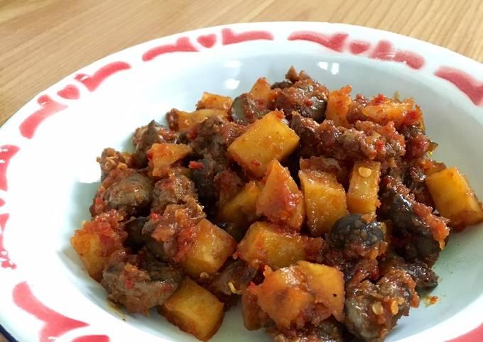 Resep: Sambal goreng hati ampela kentang