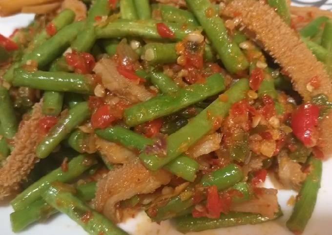 Resep: Sambel goreng babat kacang panjang