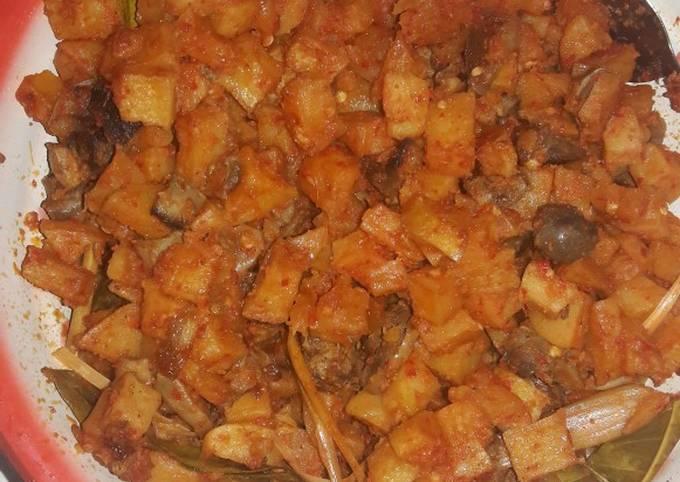 Resep Sambal goreng kentang, ati ampela