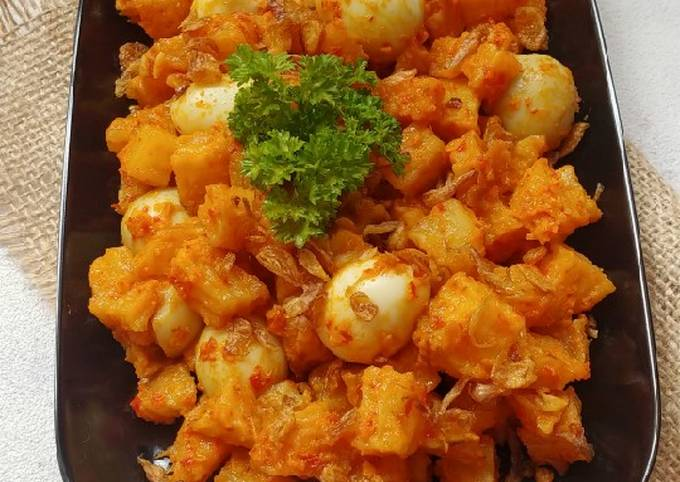 Resep Sambel goreng kentang telur puyuh