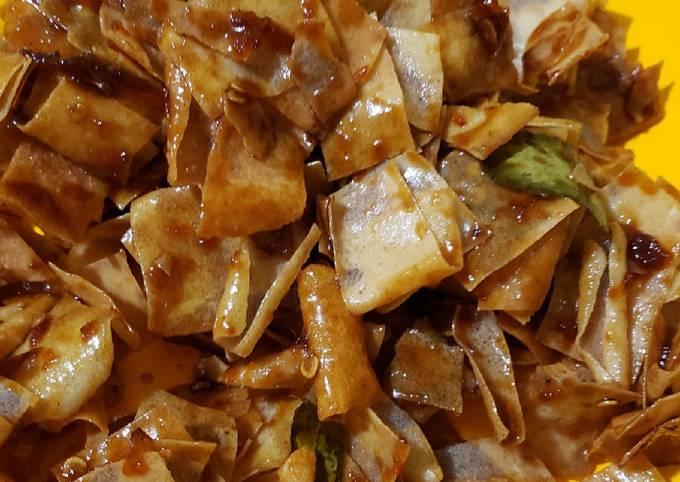 Resep Sambal goreng kulit pangsit