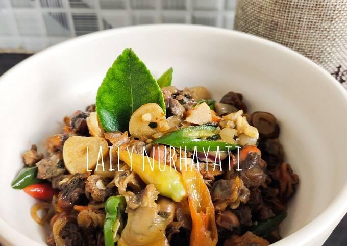 Resep Sambel goreng kerang pedas manis #week42