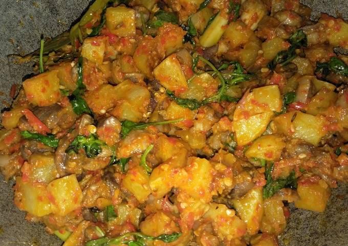 Resep Sambel goreng kentang ampela kemangi