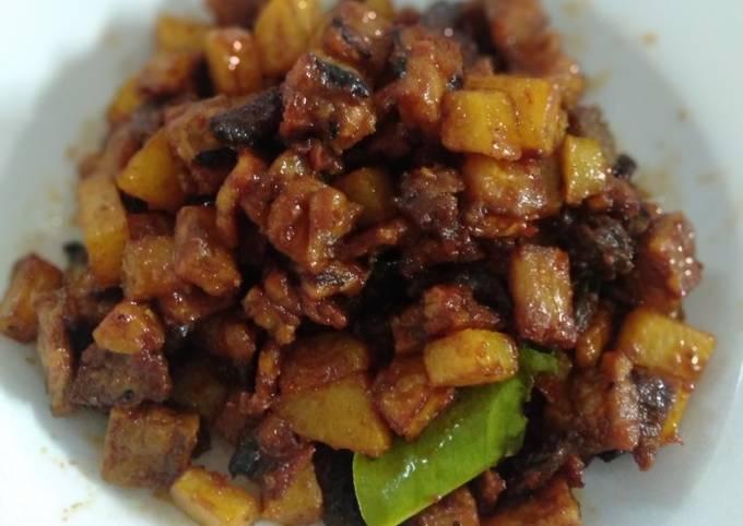 Resep: Sambel goreng tempe hati rampela kentang