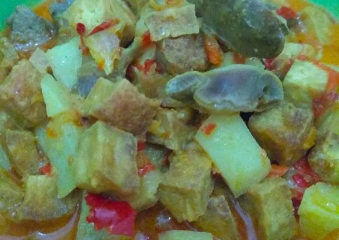 Resep Sayur ketupat (sambal goreng ati ampela)