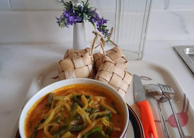 Resep: Sayur ketupat - Labu Siam kacang panjang
