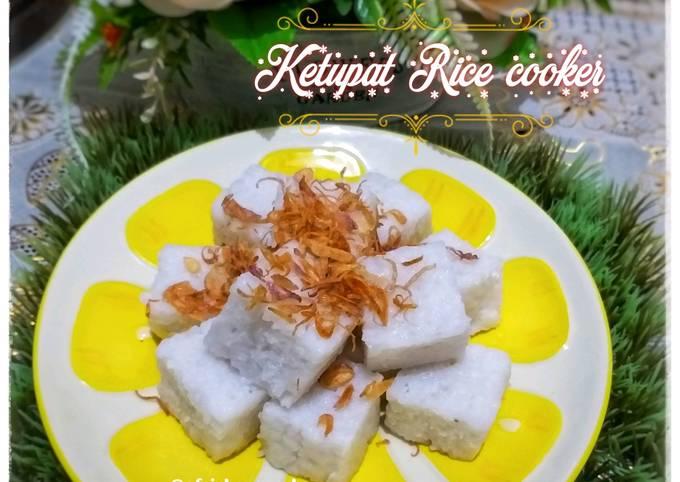 Resep: Ketupat Rice cooker praktis