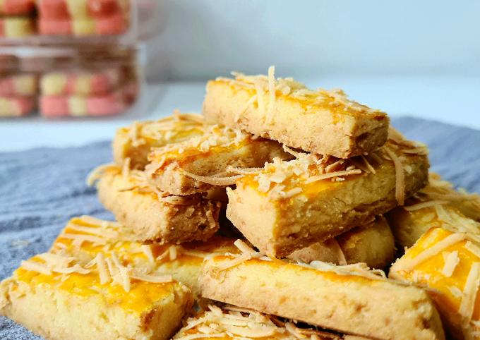 Resep: Kaastengel cheezy dan crunchy, No mixer, cepat dan mudah banget