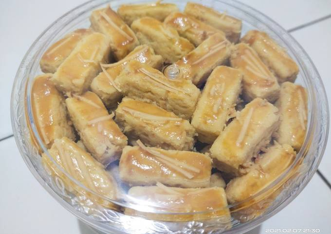 Resep: Castangel renyah lumer / kastangel /Kue Keju