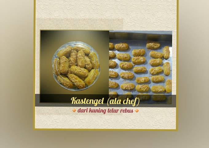 Resep Kastengel (ala chef)        ▪dari kuning telur rebus▪