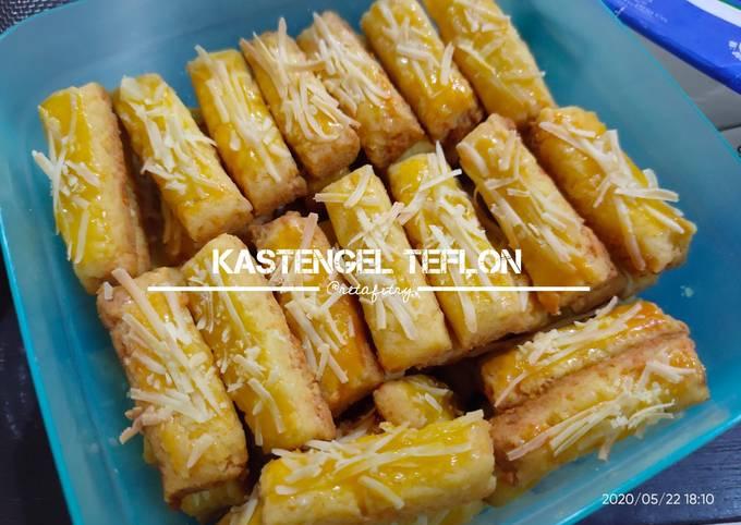 Kastengel Teflon (Pakai telur, Tanpa oven, Tanpa mixer)