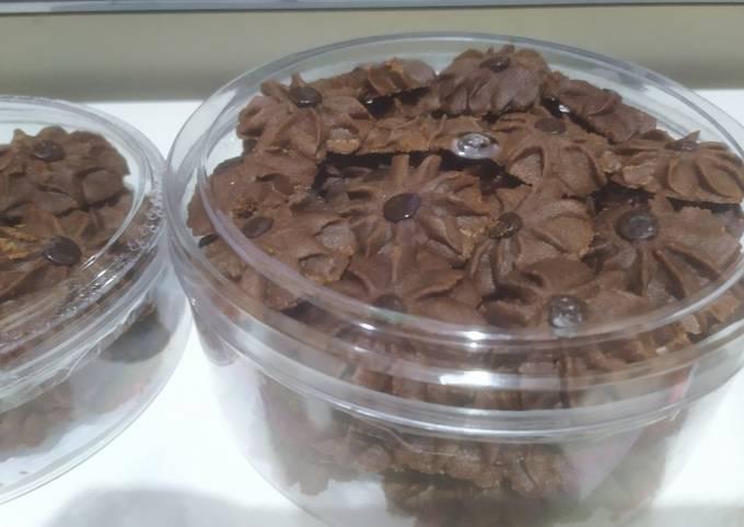 Resep: Semprit coklat