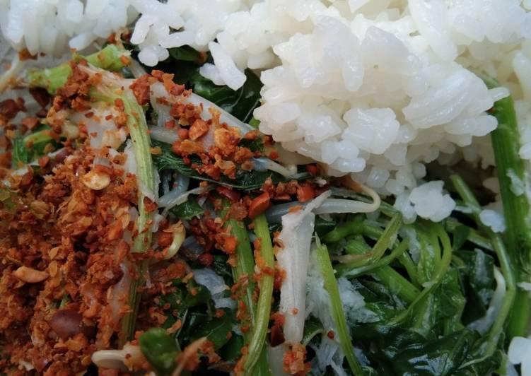 Cara mengolah Nasi bancakan/gudangan ala uti yang bikin ketagihan