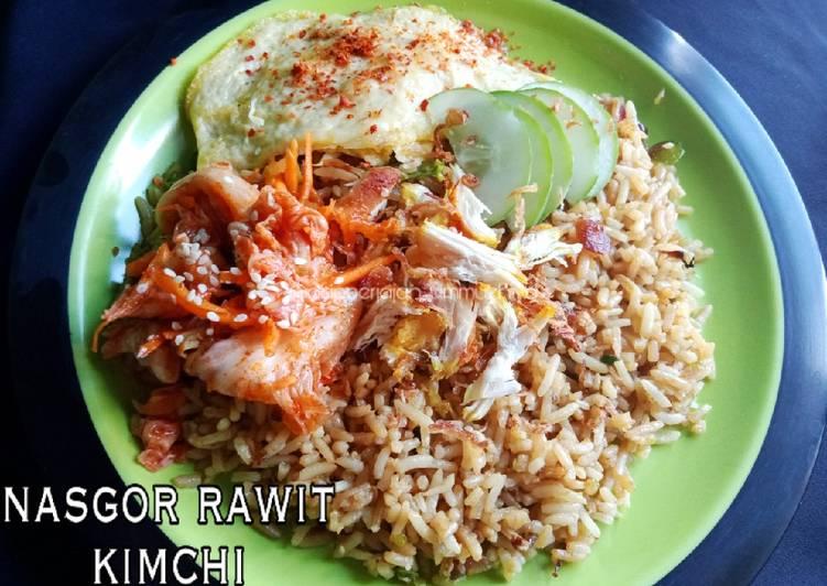 Resep: Nasi goreng rawit kimchi lezat
