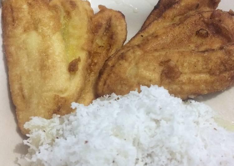 Cara membuat Pisang goreng Pulut Kelapa istimewa