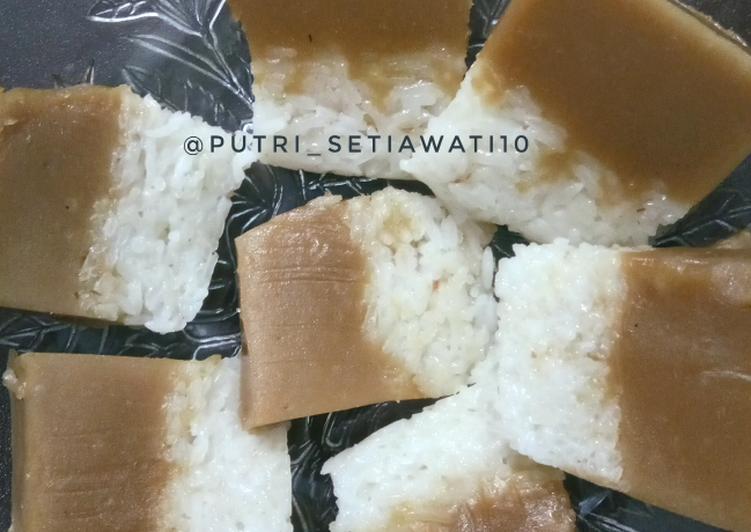 Cara Mudah membuat Lapis Ketan / pulut gula merah lezat