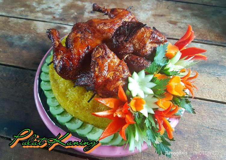 Resep: Pulut Kuning Ayam Panggang yang menggugah selera