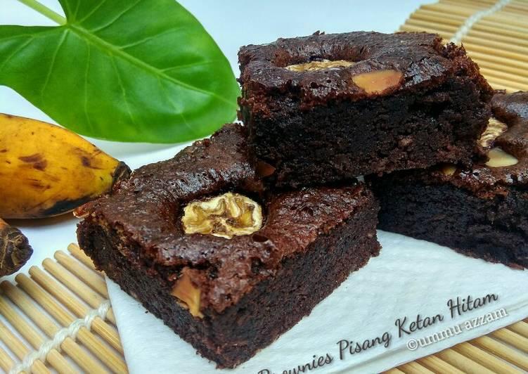 Brownies Pisang Ketan Hitam
