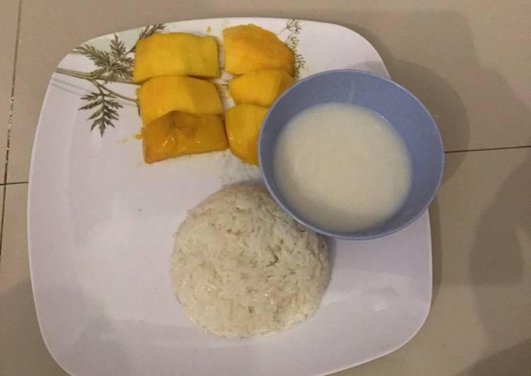 Resep membuat Mango Sticky Rice Dimasak Dengan Rice Cooker ala resto