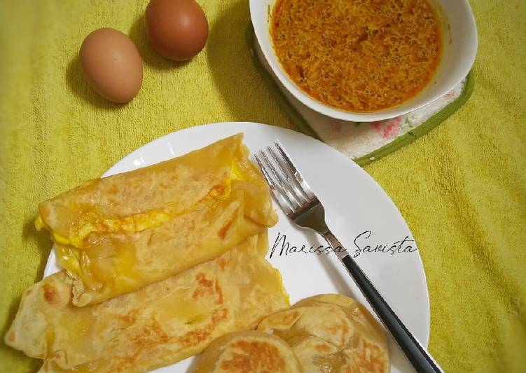 65. Egg Cheese Prata (Roti Canai/Roti Maryam)