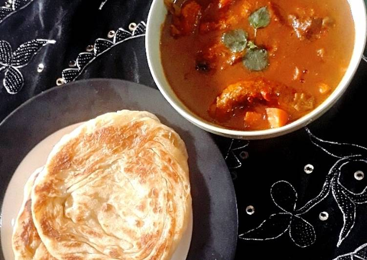 Kari India dengan Roti Canai