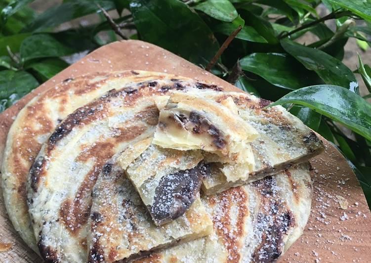 Resep: Roti maryam/canai isi coklat keju sedap