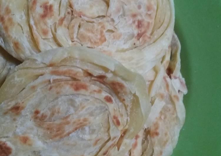 Cara memasak Roti canai lembut ala ummi izza enak