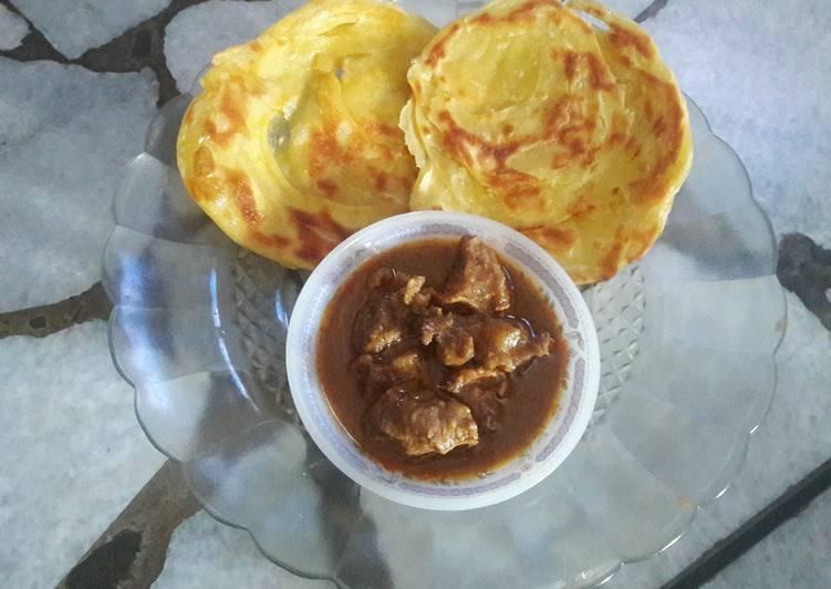 Resep: Roti cane/canai kuah kari istimewa