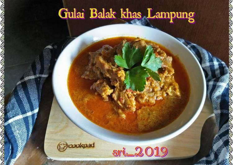 Gulai Balak khas Lampung