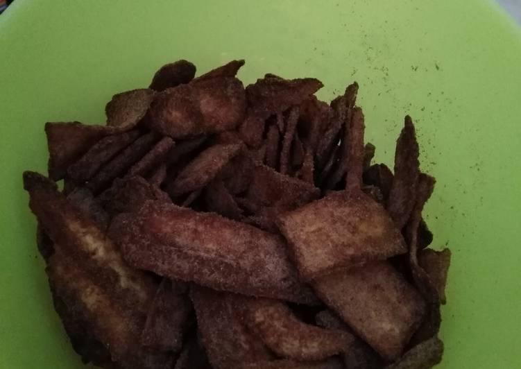 Resep membuat Keripik pisang coklat khas lampung yang bikin ketagihan