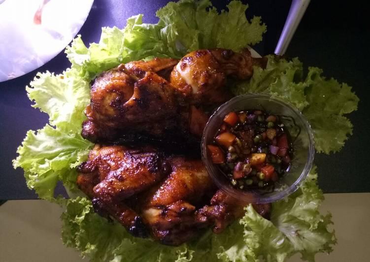 Ayam bekakak bakar
