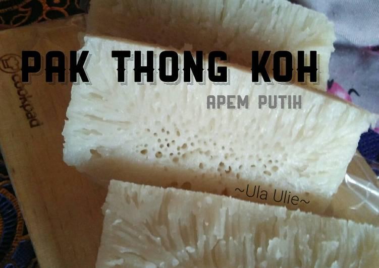 Cara memasak Pak thong koh / apem putih