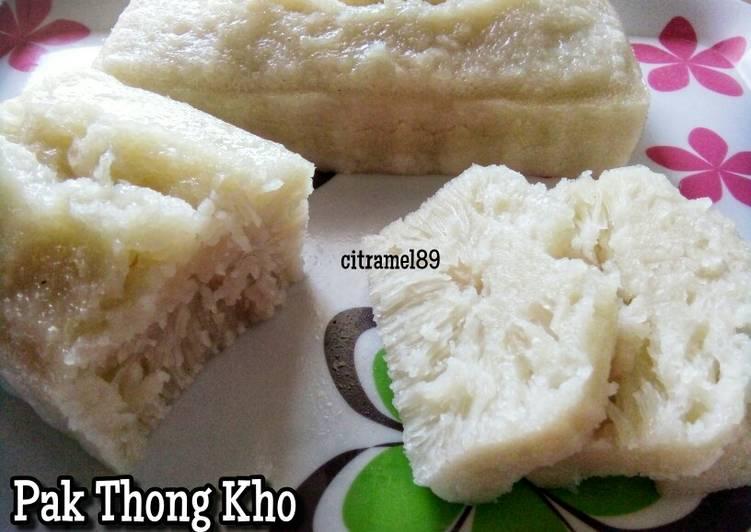 Cara Mudah mengolah Pak Thong Kho aka Apem Putih lezat