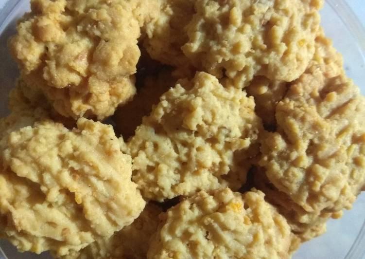 Cara Mudah membuat Kue kering emping jagung ala resto