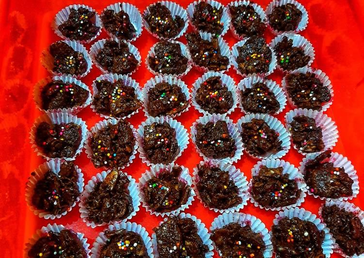 Cara Mudah memasak Emping coklat yang menggugah selera