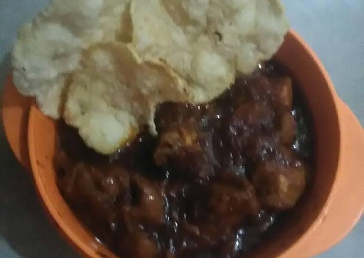 Resep: Ayam kecap saus tiram + emping ala resto