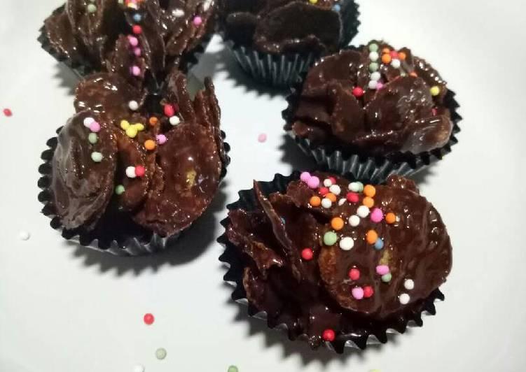 Resep: Chocolate cornflakes - coklat emping jagung