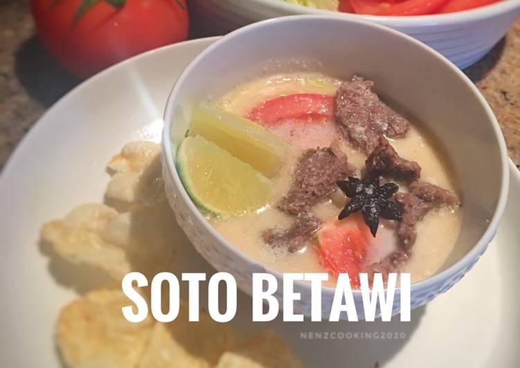 Resep membuat Soto Betawi Sapi Santan ala ala 😍 sedap