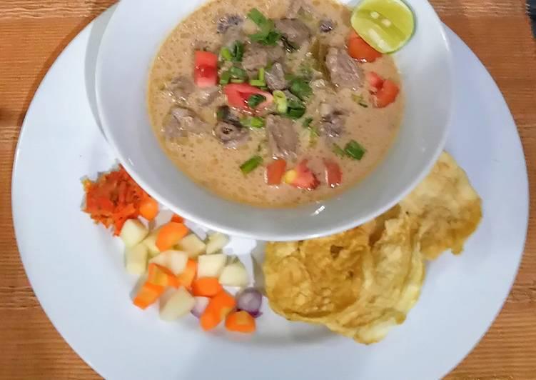 Cara memasak Soto Betawi yang bikin ketagihan